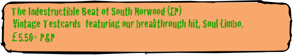 The Indestructible Beat of South Norwood (EP)